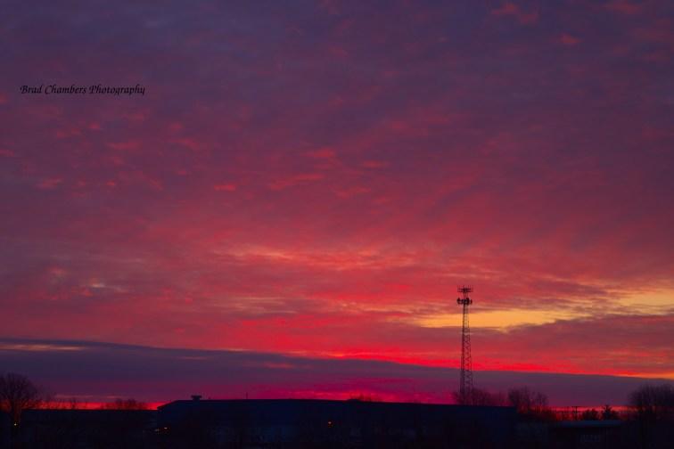February sun rise