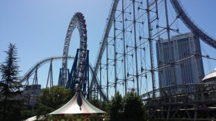 Roller coaster at the Tokyo Dome