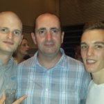 Phil, Gaz and Seb at the post 2013 International Party