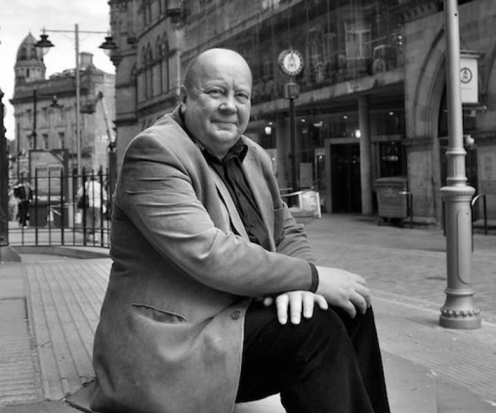 Alan Hall, Vice chair of Bradford Civic Society outside Bradford Wool Exchange