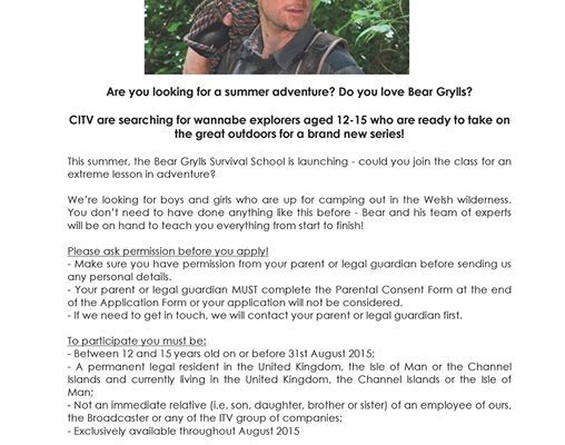 Citv Is Asking 12 15 Years Olds To Apply For A Summer Adventure For