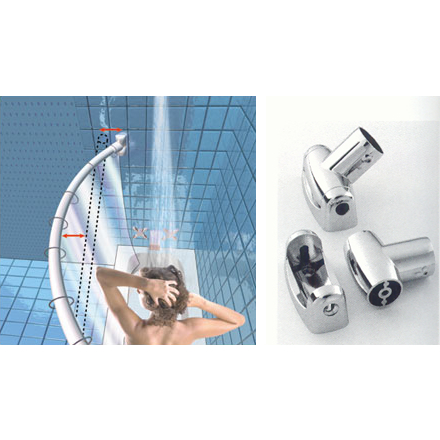 stainless steel curved shower curtain rods