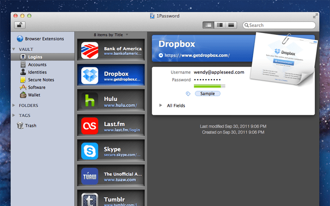 1Password - Best Productivity Mac Apps