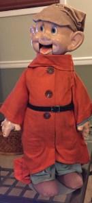 Vintage Disney's Dopey ventriloquist doll