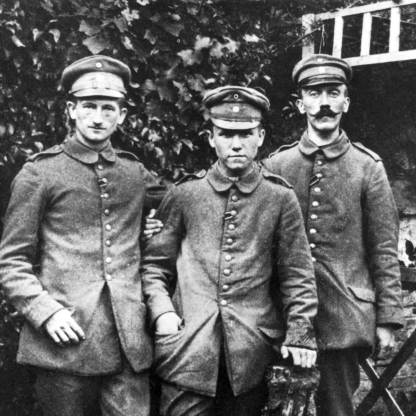 Many of the biggest names from that other World War got their start during The Great War, such as the guy on the far right, who during WWI fought for the German Army, all while in the active process of perfecting his funny moustache look - Adolf Hitler. (photosofwar.net)