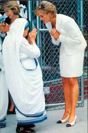The two historic figures who died within days of each other in 1997 actually met earlier that year when Mother Teresa and Princess Diana met at a Missionaries of Charity Soup Kitchen in the Bronx, NYC.