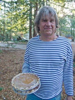 Michael Urban is Armed with Two Pecan Pies