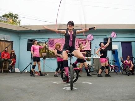 The Sprockettes Hit Santa Cruz