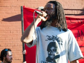 Jabari Shaw is a hip-hop artist and participant of Occupy Oakland.