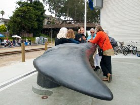Whale Tail Sculpture