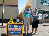 Patti Bond and Tarah Locke, Yes on 37 to Label Genetically Engineered Food