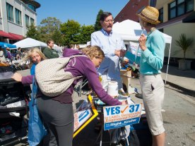 Patti Bond, Yes on 37, Santa Cruz Wellness Fair