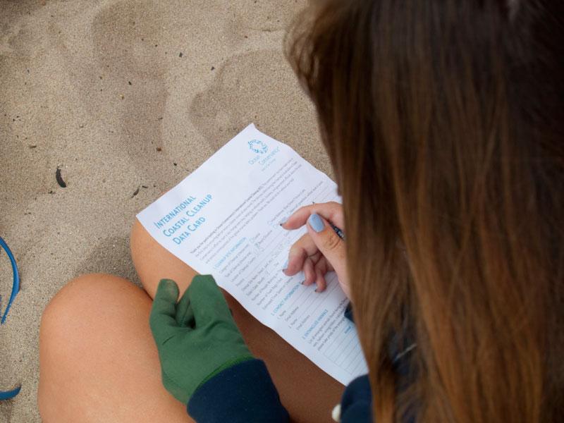 International Coastal Cleanup Data Card