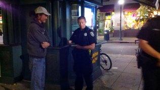 SCPD Officer Travis Ahlers Walks Towards Me