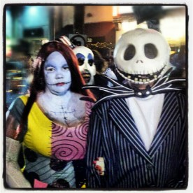 The Nightmare Before Christmas: Sally and Jack Skellington