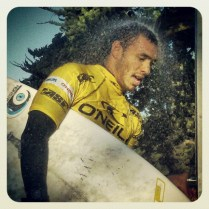 Jadson Andre from Natal City, Brasil after winning Heat 2 Round 2