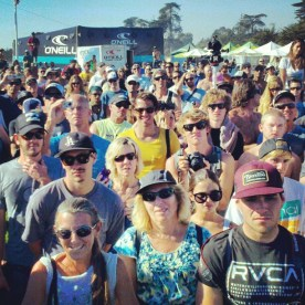 Surf fans at awards ceremony