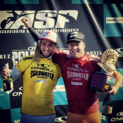 Runner Up Matt Wilkinson and Winner Taj Burrow