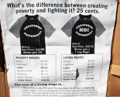 What's the difference between creating poverty and fighting it? 25 cents.