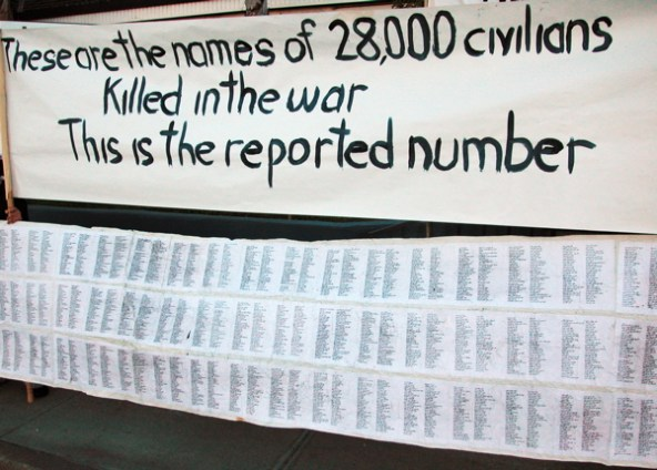 names of 28,000 Iraqi civilians killed in the war