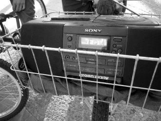 Tuned to Free Radio Santa Cruz and the Critical Mass Radio Network.