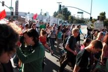 student solidarity at Mission and Bay