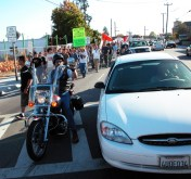 motorcycle escort and cop pointing finger