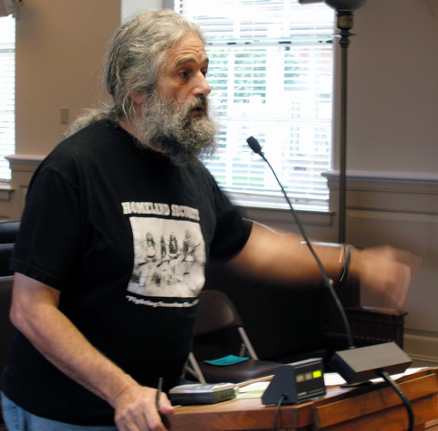 Robert Norse organizes with Homeless United for Friendship and Freedom