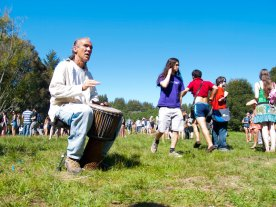 Drumming in Porter Meadow