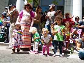 Children Line Pacific Avenue to Cheer the Pride Parade