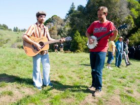 Playing the Guitar and Banjo on 420 at UC Santa Cruz