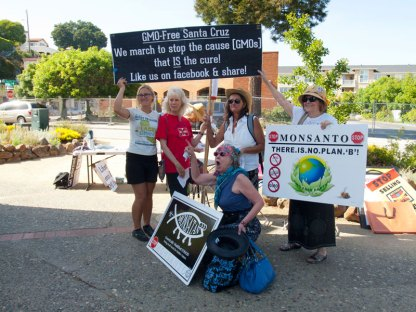 GMO-Free Santa Cruz. We March To Stop The Cause (GMOs) That Is The Cure!