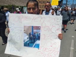 Salinas Police Officers shot and killed Osman Hernandez at Mi Pueblo Market on May 9. No Queremos Policias Asesinos En Nuestra Comunidad. No Justicia No Respeto. // We Do Not Want Killer Cops In Our Community. No Justice No Respect.