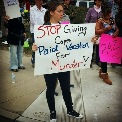 """""""Stop Giving Cops Paid Vacation For Murder!"""""""