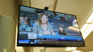Paula and Isabella speak to City Council