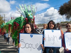 Quetzalcoatl and Students from Soquel High