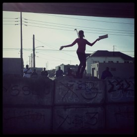 Dancing in the streets. East Oakland