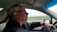 Louis LaFortune driving a car