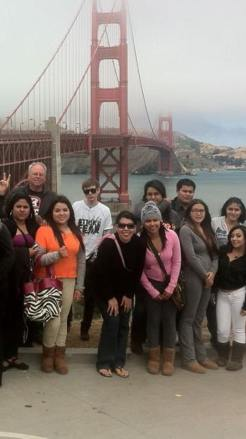 Louis LaFortune and New School students in San Francisco