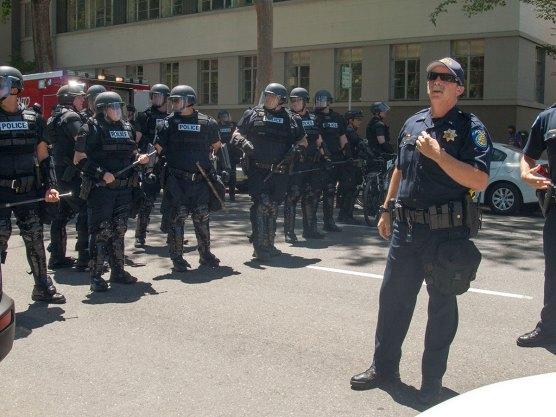 Police in the Street
