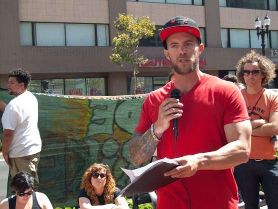 Cole Dorsey, an organizer for the Incarcerated Workers Organizing Committee