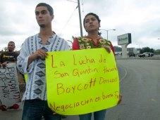The struggle of San Quintín is present: Boycott Driscoll's