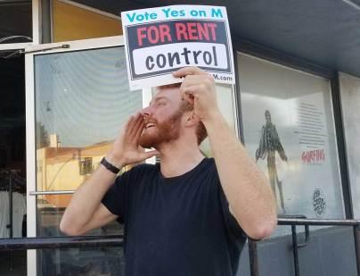 Rally for Rent Control in Santa Cruz
