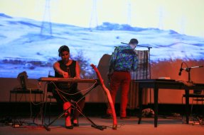 Audio visuals and performance at Al Qasba Theatre, Sharjah