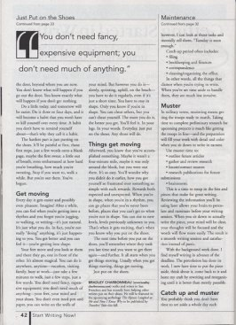 "Writer's Digest, November 2003 ""Just Put on the Shoes"" page 2"