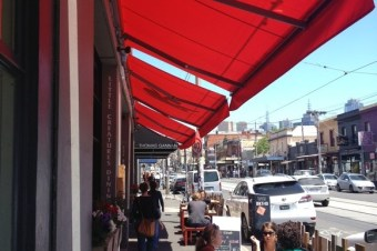 Red Sun Awning at Little Creatures Fitzroy