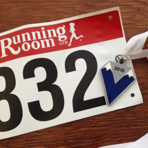 VanRace bib and medal