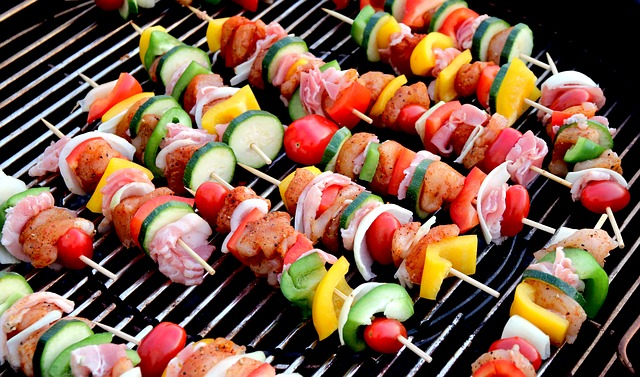 Shish Kabobs ready for the grill.