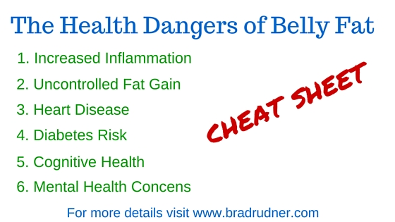 Graphic on the dangers of belly fat