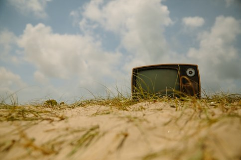 TV on sand: A problem of modernity with the solution all around it.